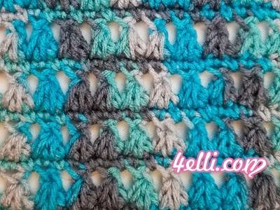 Crochet 3Together Cluster Stitch Tutorial (EN)