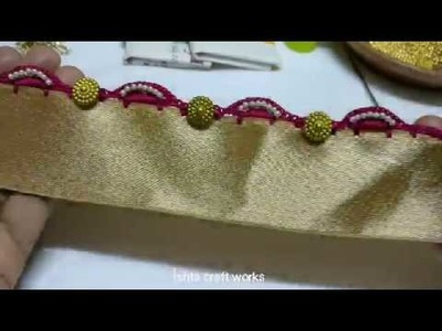 Crochet easy single arch saree tassel.kuchu pattern for beginners