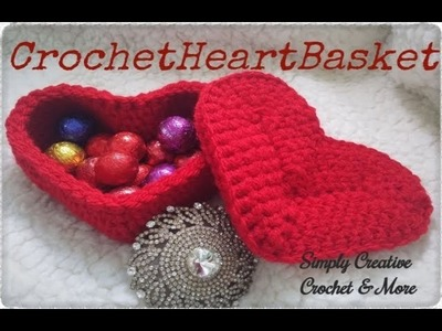 Crochet Heart Basket | DIY gift box