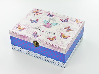 Decoupage box Gift for Girls - Decoupage Tutorial - DIY