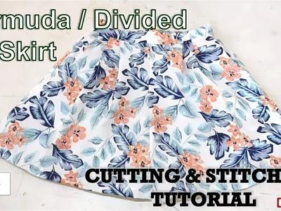 Divided Skirt | Bermuda Skirt | How To Sewing Tutorial | Diy