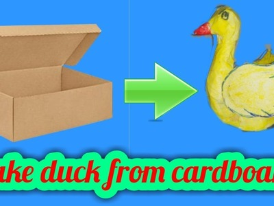 DIY 3D origami duck | how to make 3D duck from cardboard box