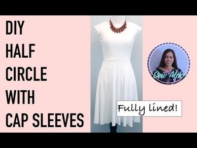 DIY CAP SLEEVE DRESS | HALF CIRCLE SKIRT DRESS | EASY SEWING TUTORIAL