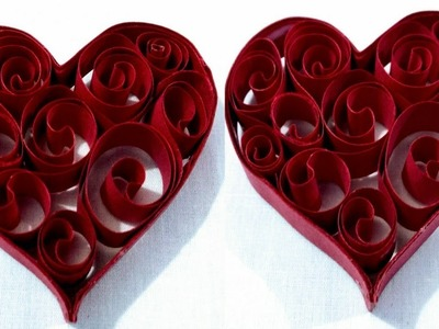 DIY Craft-Origami 3d Paper Heart for Decoration-Paper Valentine Craft
