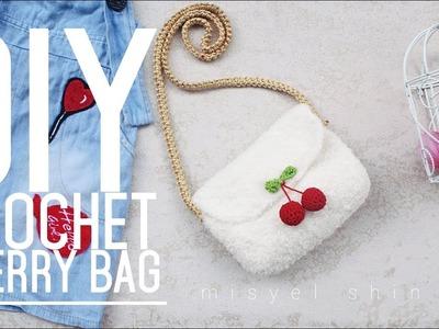 Diy crochet cherry bag for kids