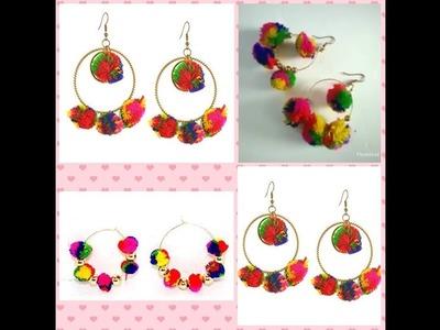 DIY. DIY Pom pom earrings.How to make pom pom earrings. Pom pom earrings