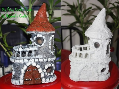 Diy Fariy Castle making with home made paper clay and tissue paper roll