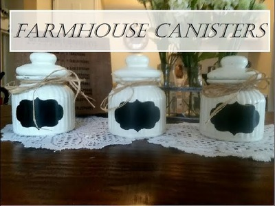 DIY Farmhouse Canisters | Dollar Tree DIY