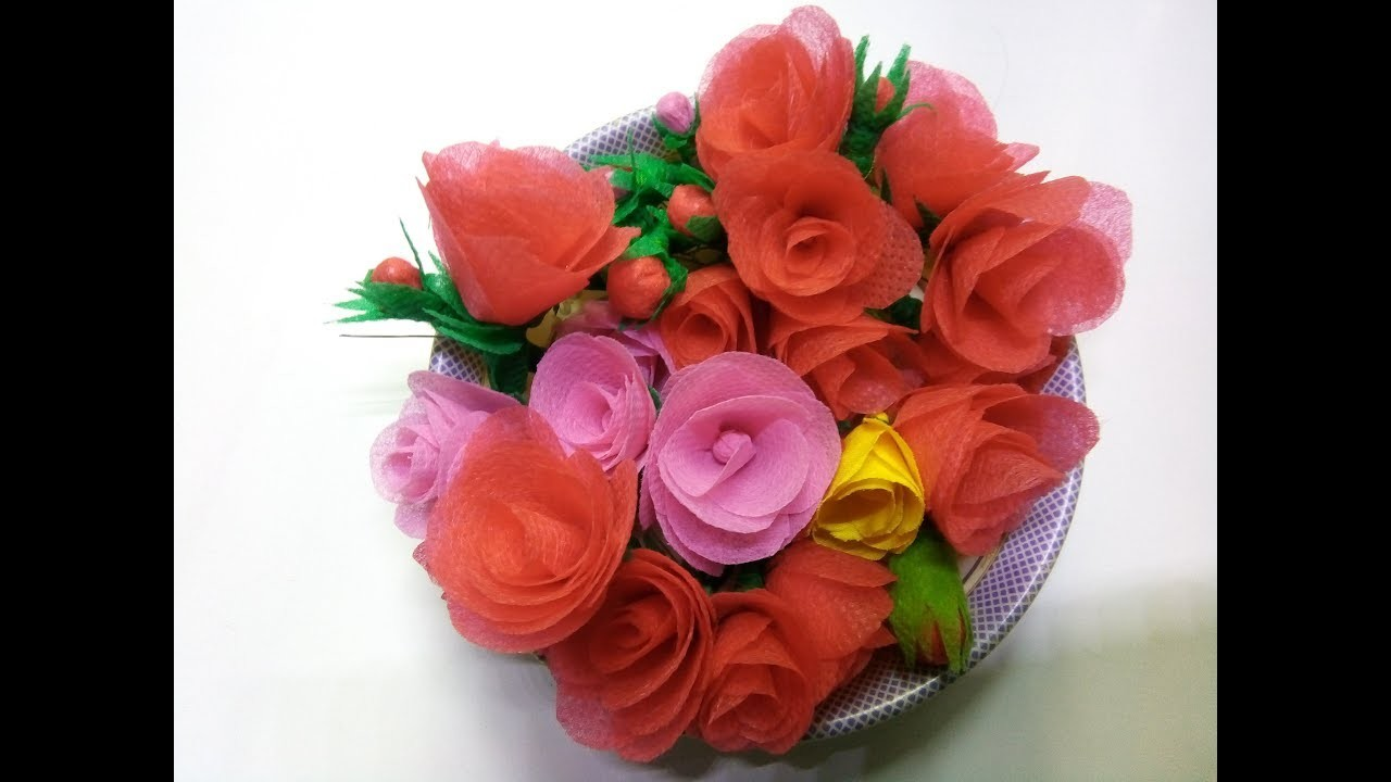DIY Flower Making Tutorial || Using Old Shopping Bag