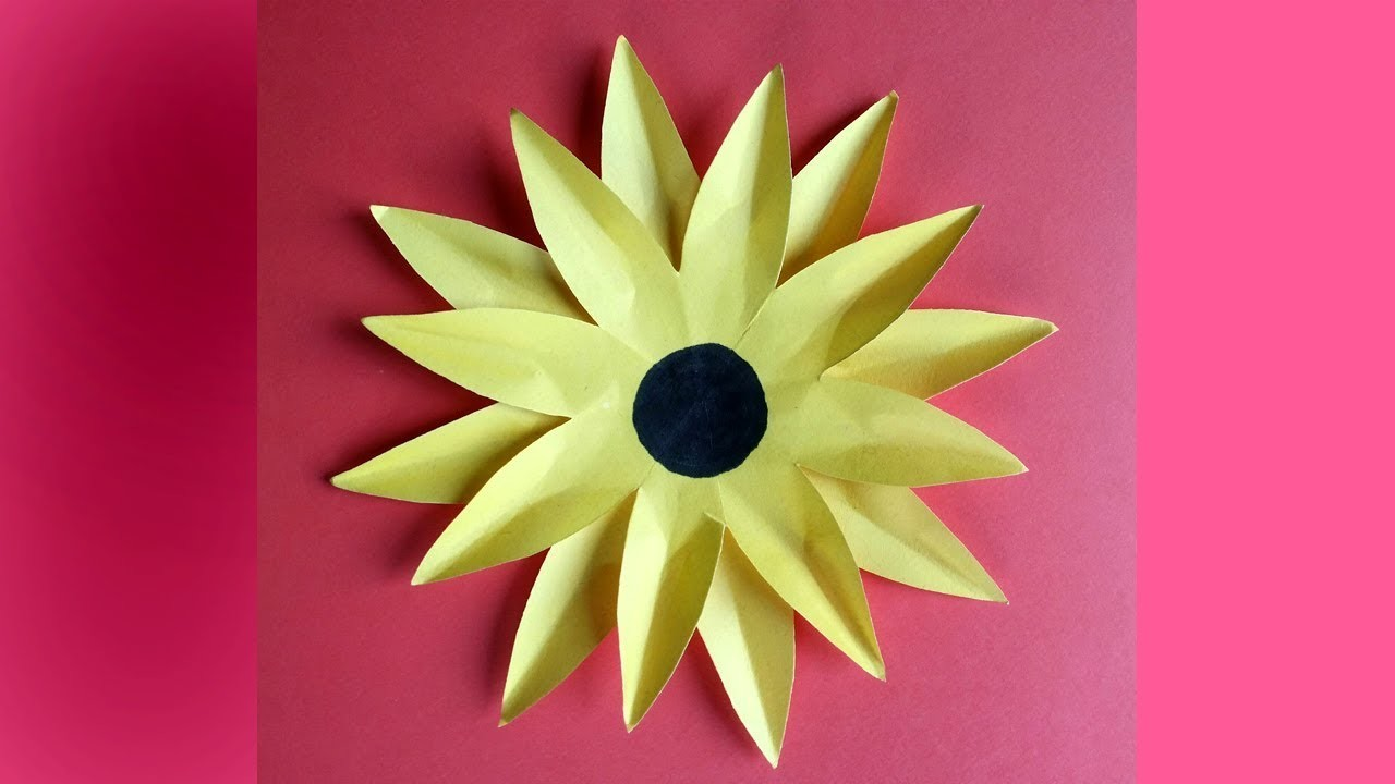DIY:How to Make Paper Sunflower Easy and Simple !!!