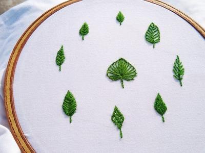 DIY Leaf Hand Embroidery: How to Make Leaf Stitch Very Easy (9 in 1) | DiyRoll