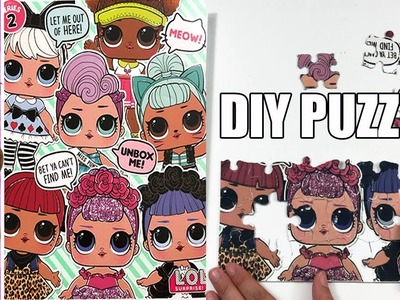 DIY LOL Doll Puzzle | How To Make An LOL Surprize Doll Puzzle Tutorial