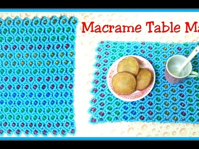 DIY MACRAME Table MAT Tutorial in hindi