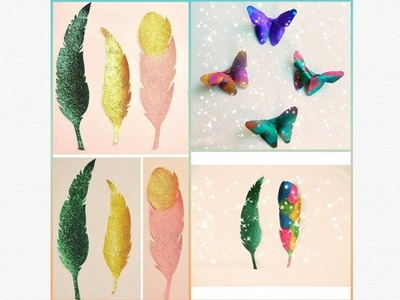 DIY Magical Butterflies | Feather Bookmarks ☺️????????