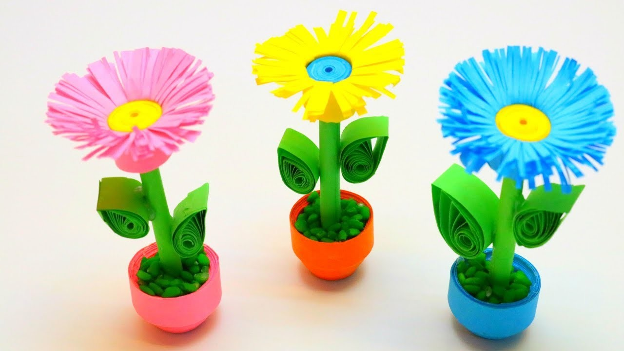 Diy Miniature 3d Paper Flower Pot Emma Diy 20