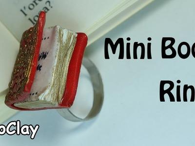 Diy Miniature Book Ring - Polymer clay tutorial