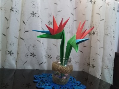 DIY Paper Crafts - Origami - How to Make Origami Bird of Paradise flowers + Tutorial !