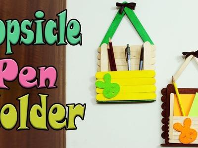 Diy Popsicle Stick Pencil Holder  Pen Stand Easy DIY   Simple crafts