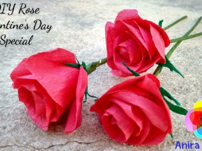DIY Rose Valentine's Day Special 2018 Paper Crafts Tutorial Lover's Day