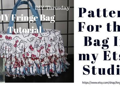 DIY Thursday | Fringe Bag Tutorial