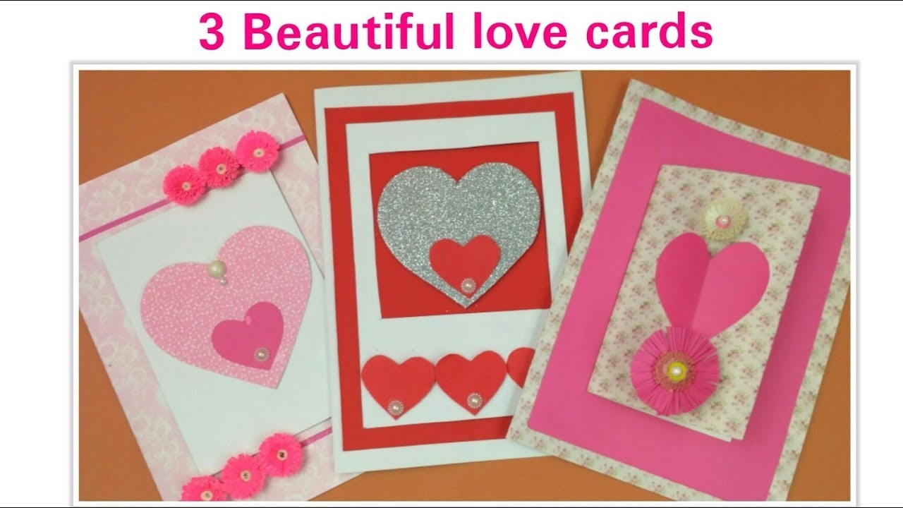 Diy Valentine Cards Handmade Love Greeting Cards For Boyfriend