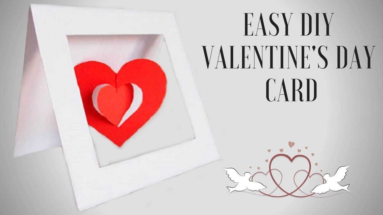 Diy valentines day pop up card diy anniversary cards
