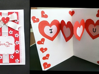 DIY  Valentine's  Heart Pop Up Card. Simple and Easy Handmade  Pop Up Card for Valentine