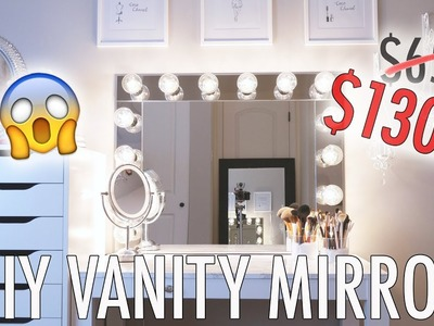 DIY: VANITY MIRROR ON A BUDGET! Luxe for Less!