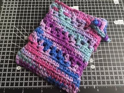 Easy Crochet String Pouch Tutorial