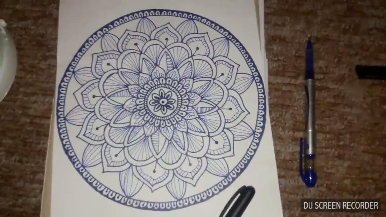 Easy Mandala Drawing How To Draw A Simple Easy Mandala Drawing
