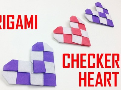 Easy Origami Checkered Heart ❤️ for Valentine - EasyCrafts DIY | Valentine's Day Crafts & Gifts