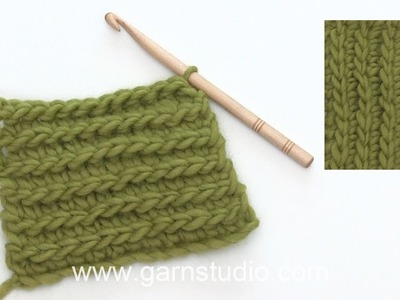 How to crochet a rib