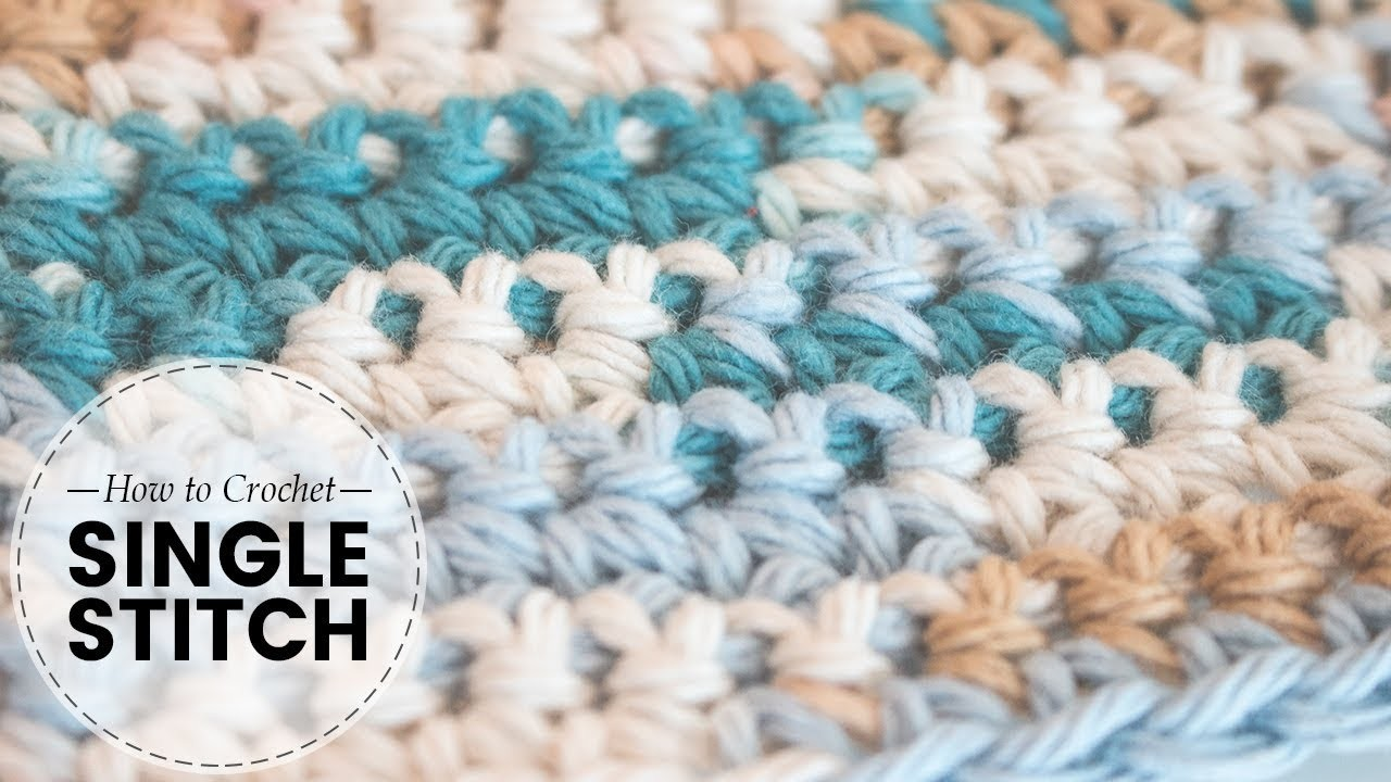 How to Crochet- Absolute Beginners: Single Crochet Stitch | Last Minute Laura