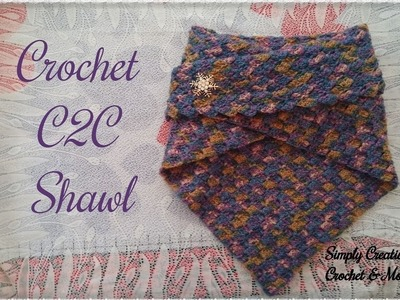 How to crochet C2C Shawl | for beginners | written instructions