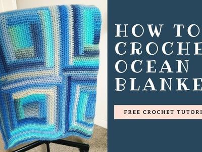 How to crochet Ocean blanket