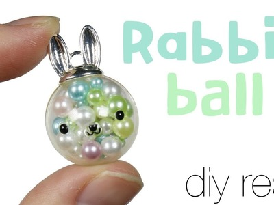 How to DIY miniature Bunny Ornament.Orb Resin Tutorial