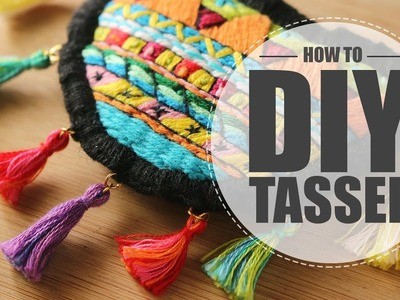 How to DIY tassel using leftover threads - Hand Embroidery Simple & Easy Tutorial