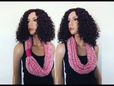 How to Knit Phans Cowl Necklace Pattern #619│by ThePatternFamily