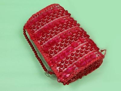 How to Make a Beautiful Beaded Bag || Beaded Bag New Design || Putir Bag Review #14