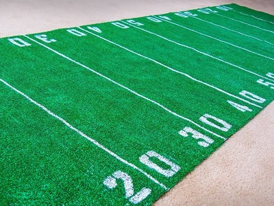 How to Make a Football Field Rug (DIY)