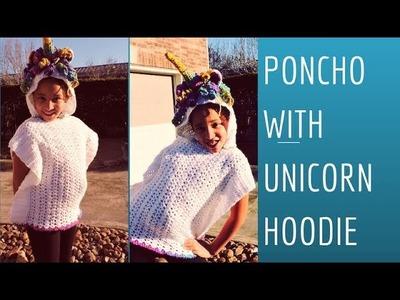 How to make a Poncho with Unicorn Hoodie