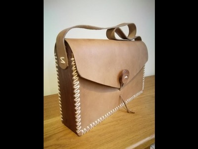 How to make a wood and leather bag