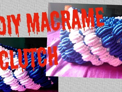 HOW TO MAKE BEAUTIFUL MACRAME CLUTCH BAG. MACRAME PURSE.easy and simple.