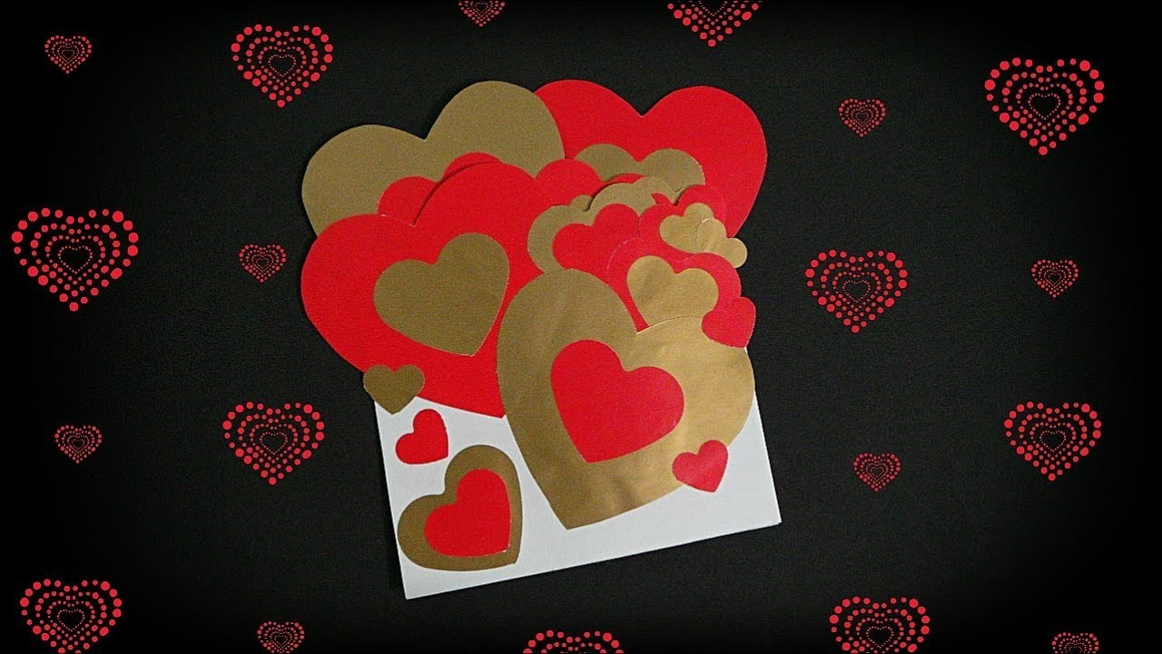 How to make card for Valentine's Day | Valentine card making idea | Diy card