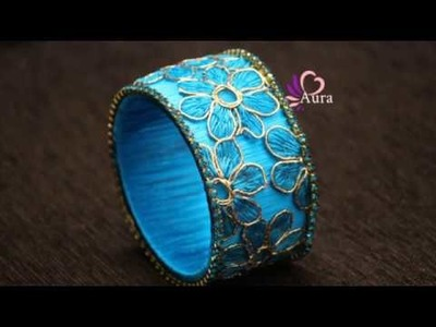 How to make Designer Bangle using Netted Cloth