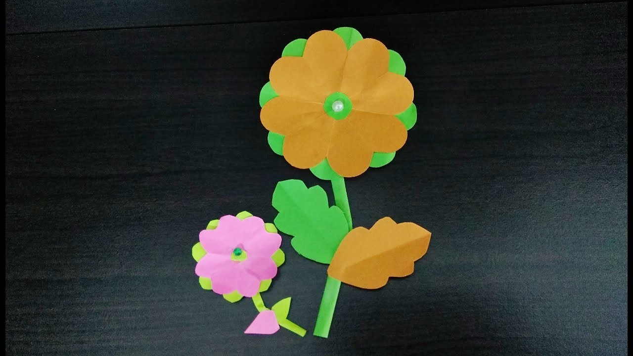 How To Make Paper Flowers Tutorial Handmade At Home Easy And Rich