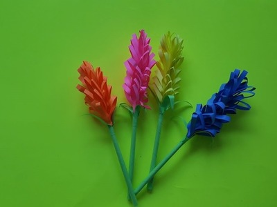 How to make paper lavender flowers - Simple and easy DIY tutorial
