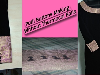 How to make Potli Buttons | DIY Potli Buttons | Reet Designs