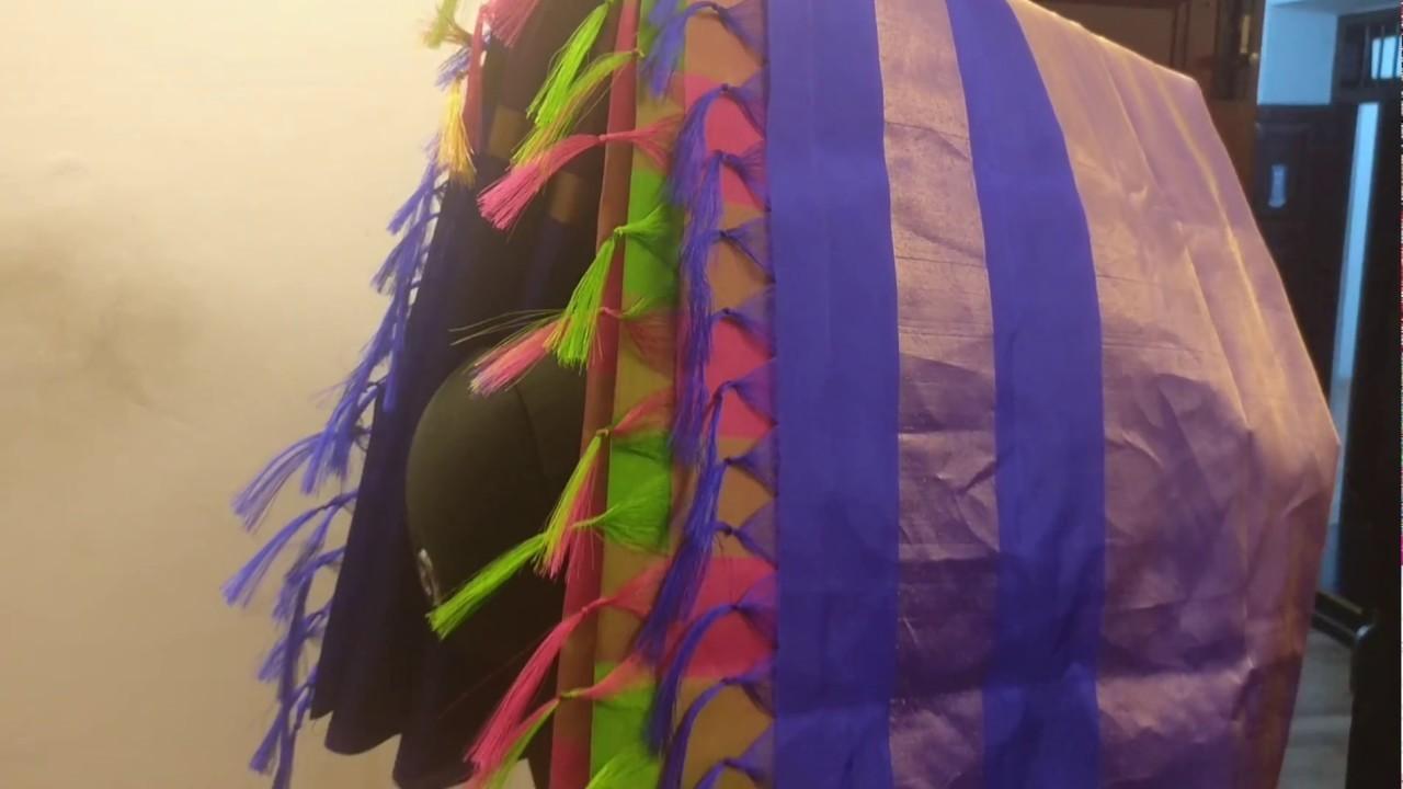 How to Make Saree Kuchu - Pallu Knots -  Tassels Design