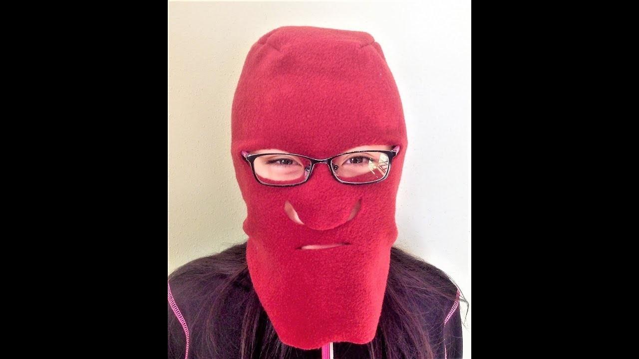 How to sew full head ski hat and mask